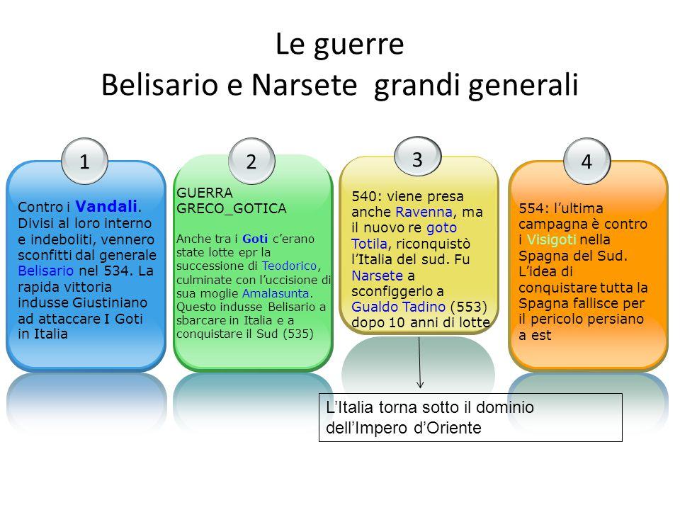 Le guerre Belisario e Narsete grandi generali
