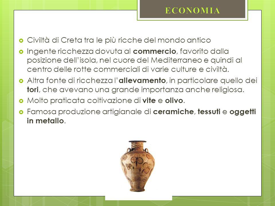 ECONOMIA Civiltà di Creta tra le più ricche del mondo antico
