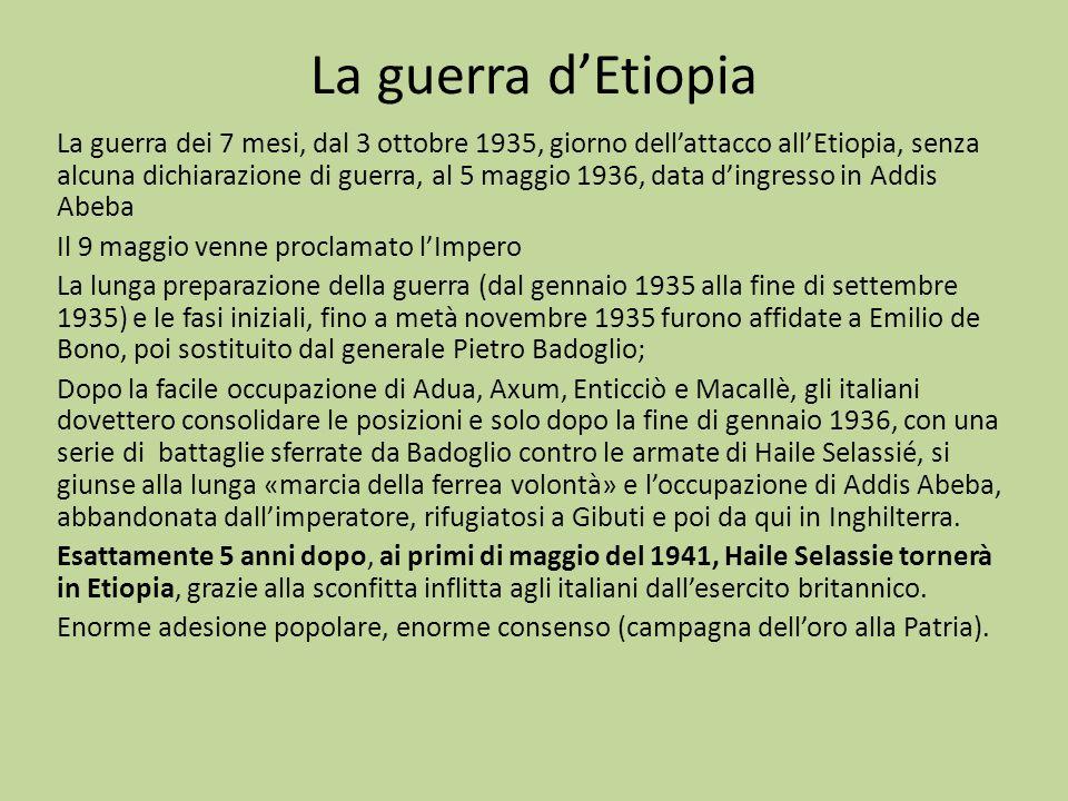 La guerra d'Etiopia