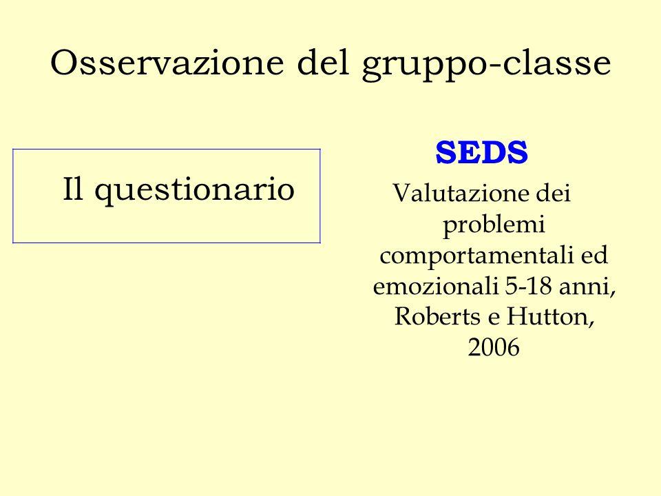 Osservazione del gruppo-classe