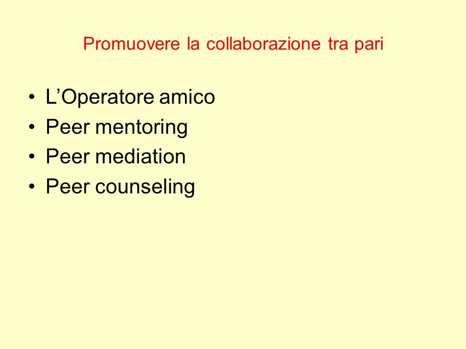 Promuovere la collaborazione tra pari