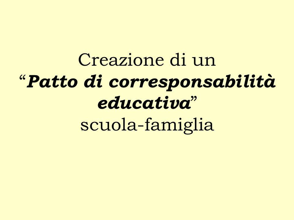 Creazione di un Patto di corresponsabilità educativa scuola-famiglia