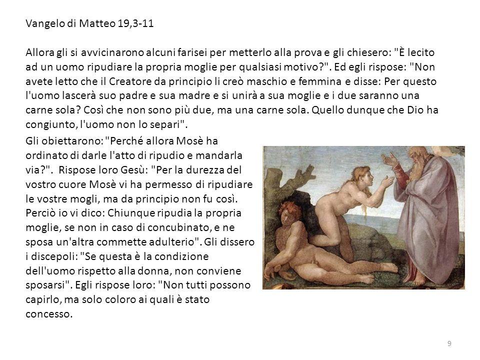 Vangelo di Matteo 19,3-11