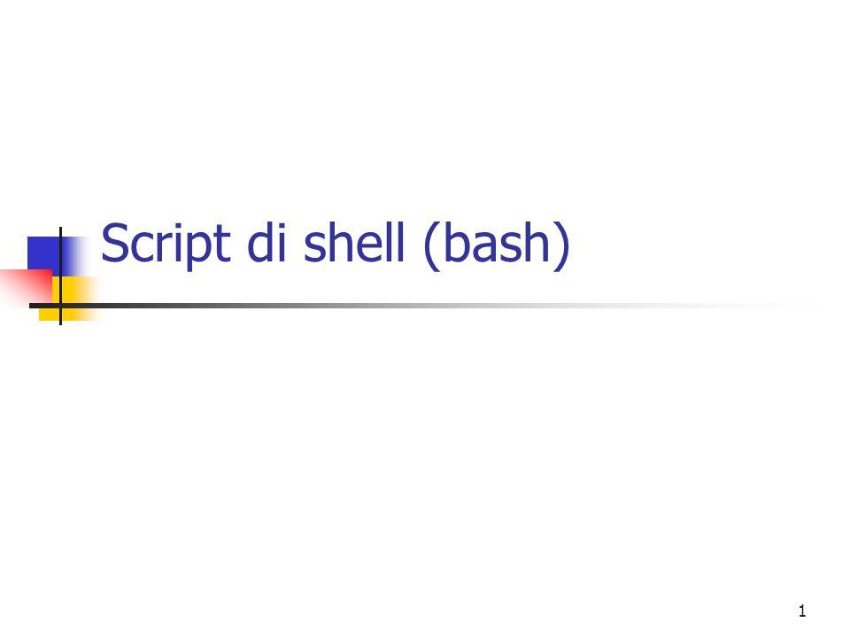 Script di shell (bash)