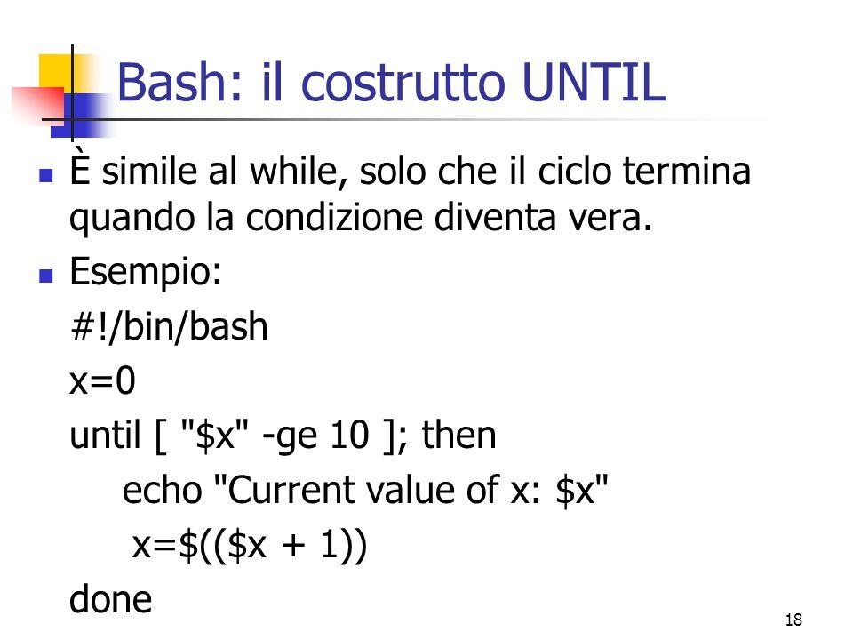 Bash: il costrutto UNTIL
