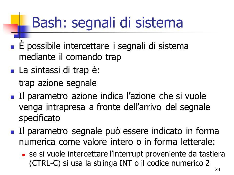 Bash: segnali di sistema