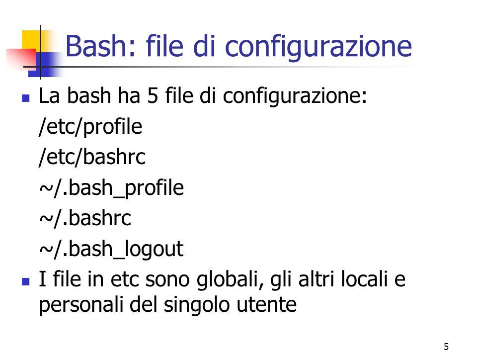 Bash: file di configurazione