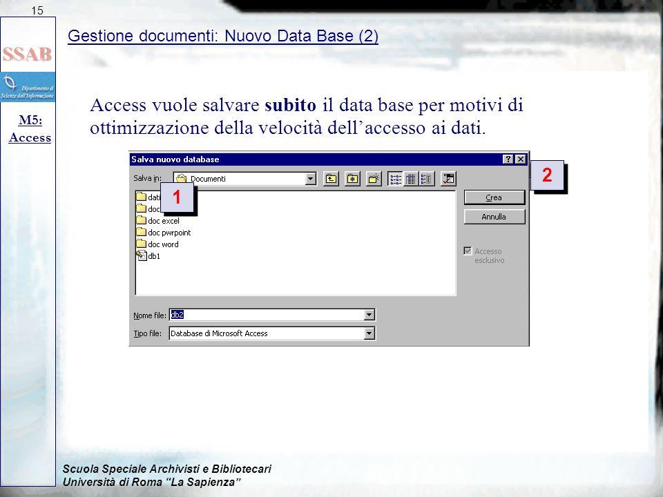 15 09/04/2017. Gestione documenti: Nuovo Data Base (2)