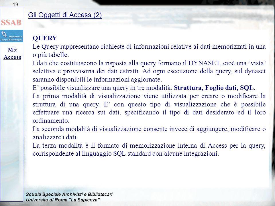 Gli Oggetti di Access (2)