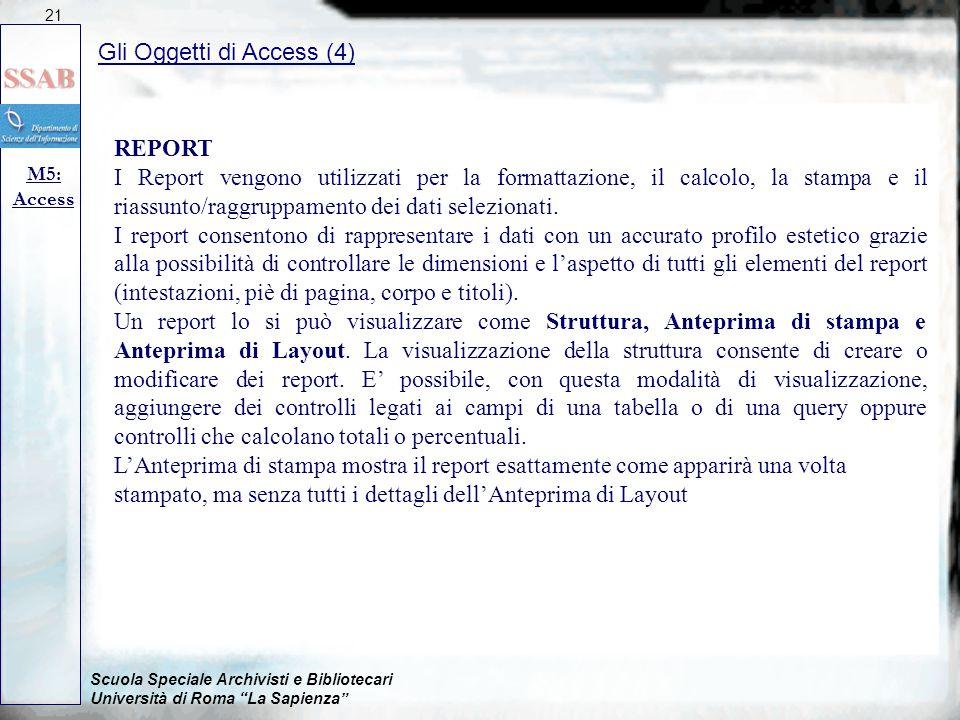 Gli Oggetti di Access (4)