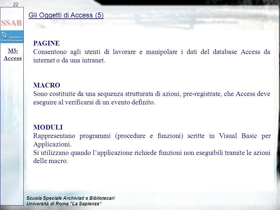 Gli Oggetti di Access (5)