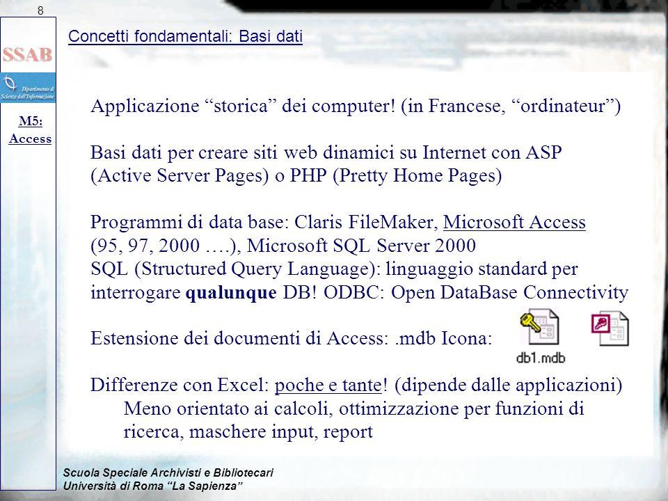 Applicazione storica dei computer! (in Francese, ordinateur )
