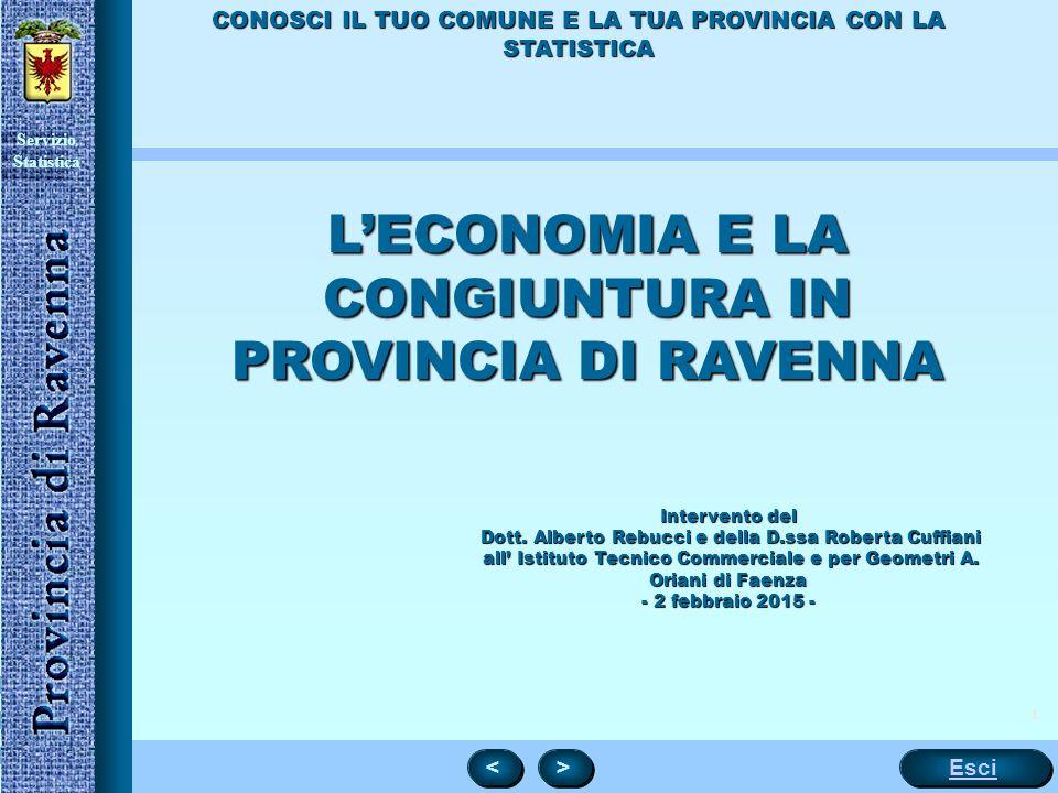 L'ECONOMIA E LA CONGIUNTURA IN PROVINCIA DI RAVENNA