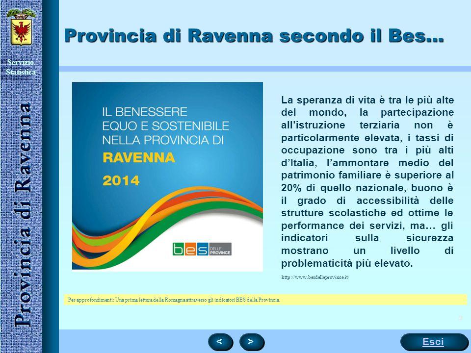 Provincia di Ravenna secondo il Bes…