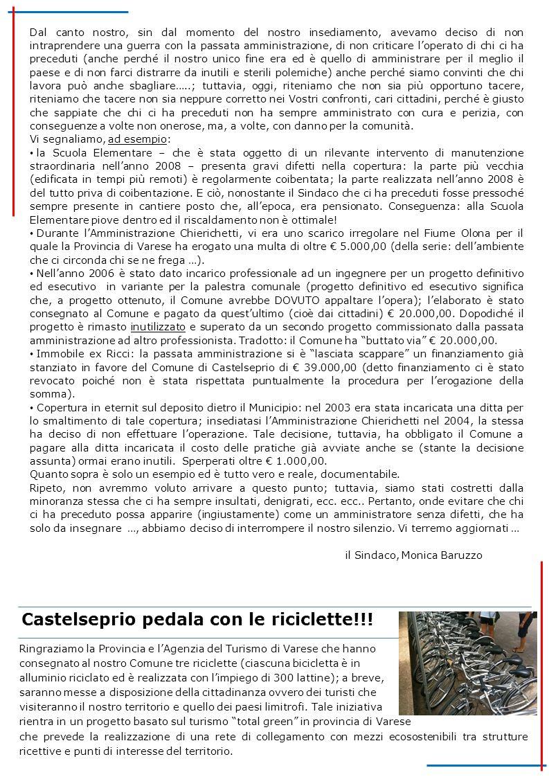 Castelseprio pedala con le riciclette!!!