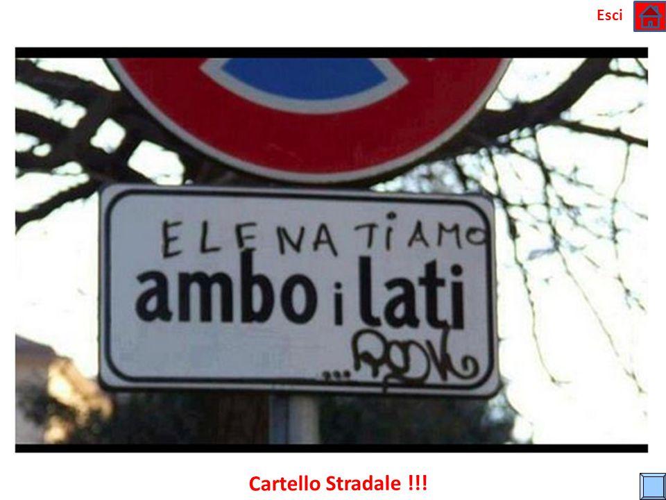 Esci Cartello Stradale !!!