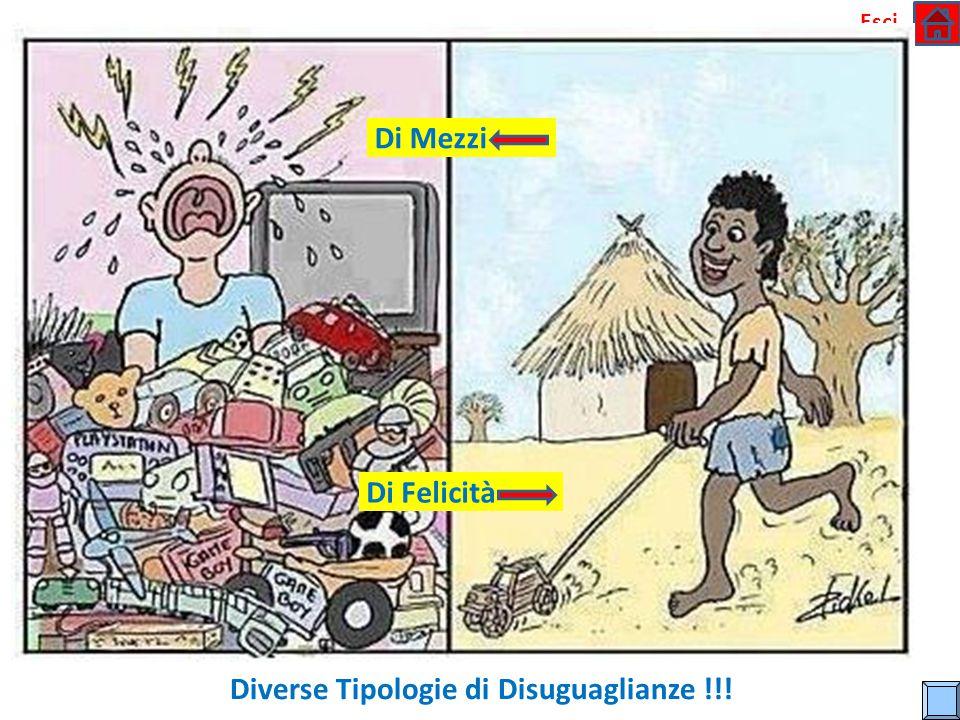Diverse Tipologie di Disuguaglianze !!!
