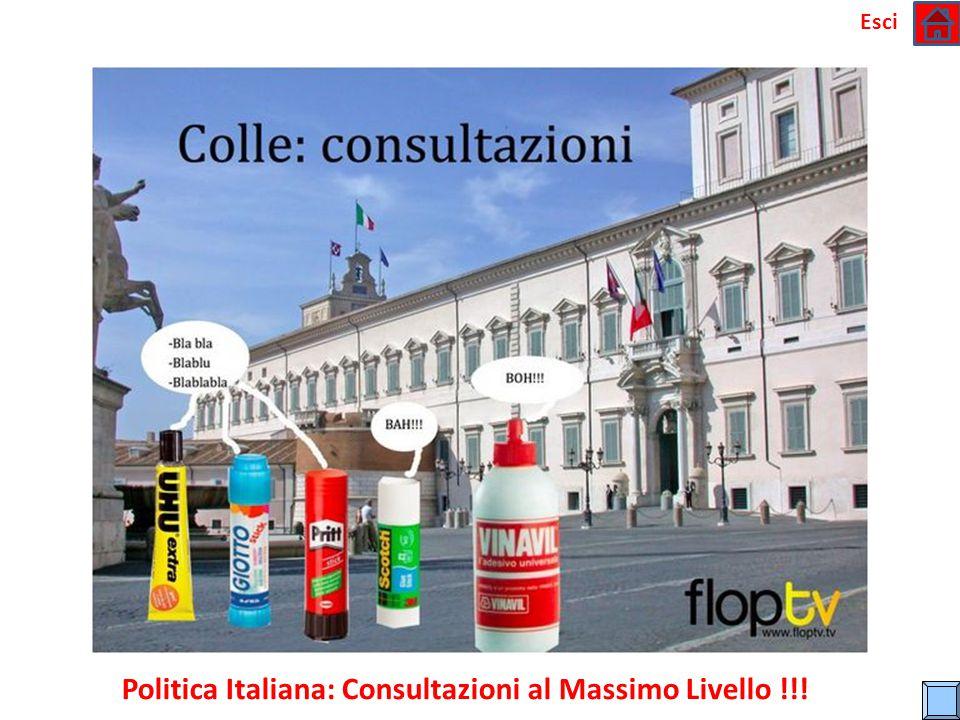Politica Italiana: Consultazioni al Massimo Livello !!!