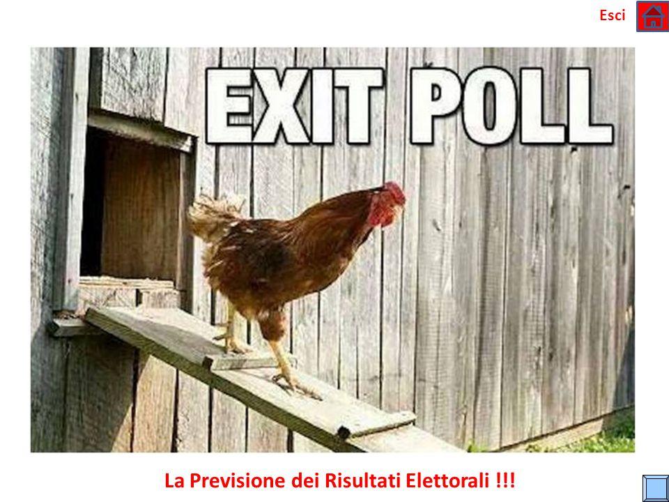 La Previsione dei Risultati Elettorali !!!