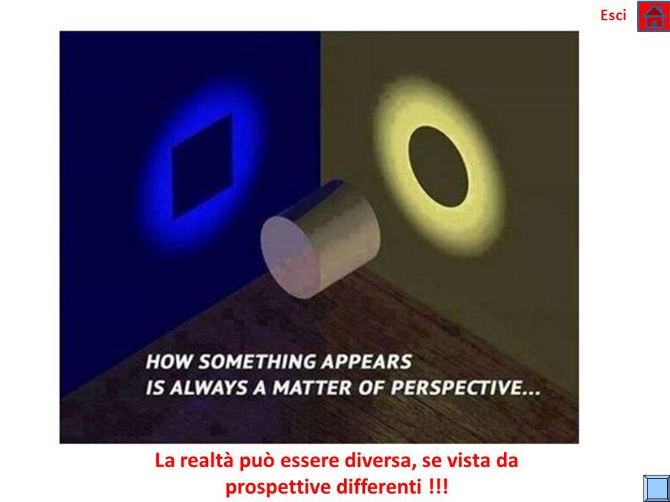 La realtà può essere diversa, se vista da prospettive differenti !!!