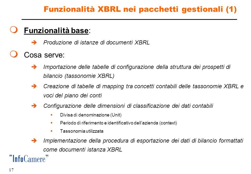 Funzionalità XBRL nei pacchetti gestionali (1)