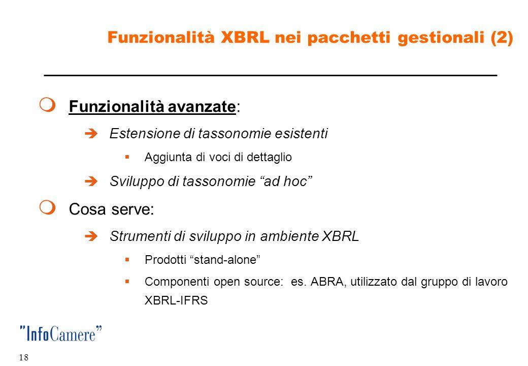 Funzionalità XBRL nei pacchetti gestionali (2)