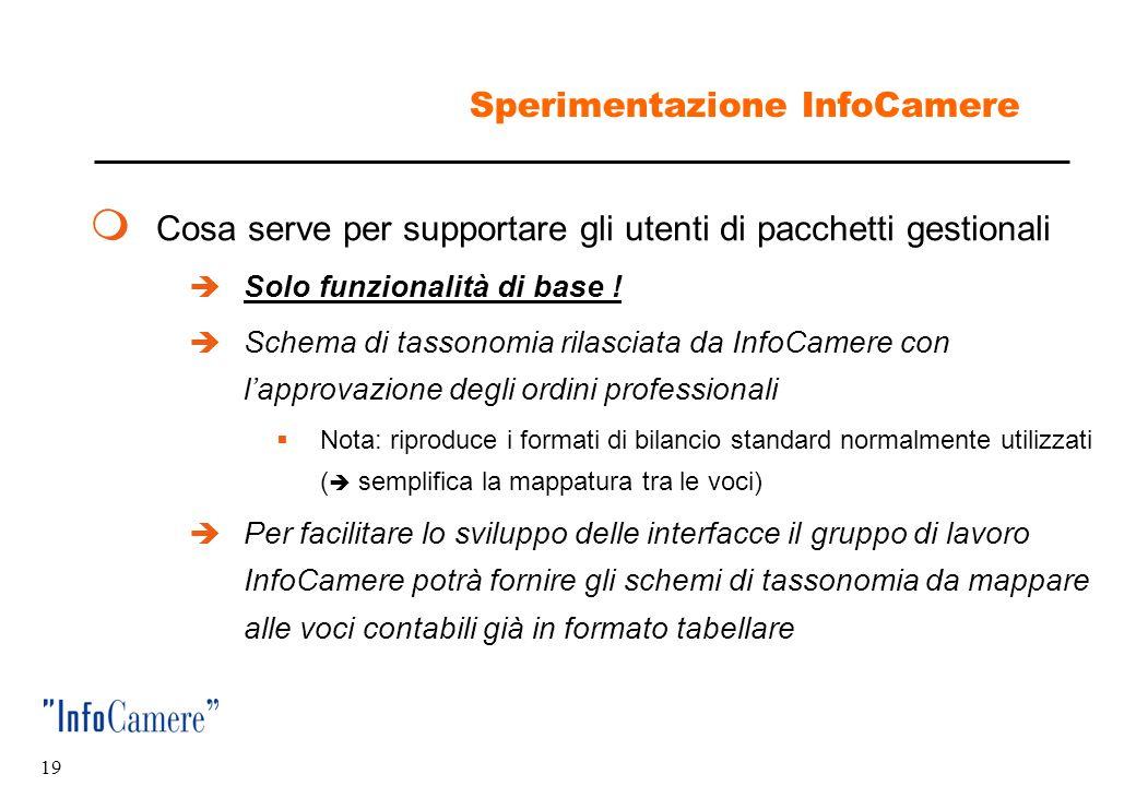 Sperimentazione InfoCamere