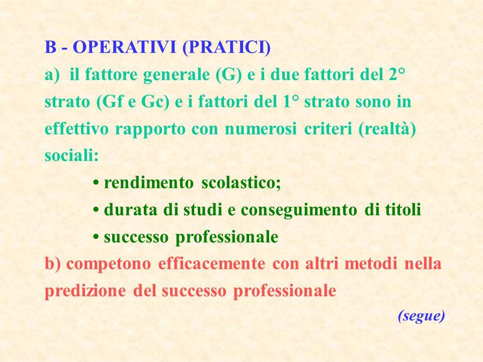 B - OPERATIVI (PRATICI)