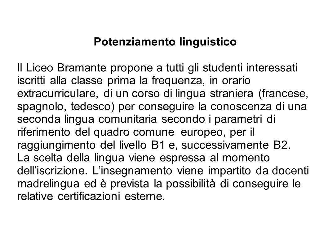 Potenziamento linguistico