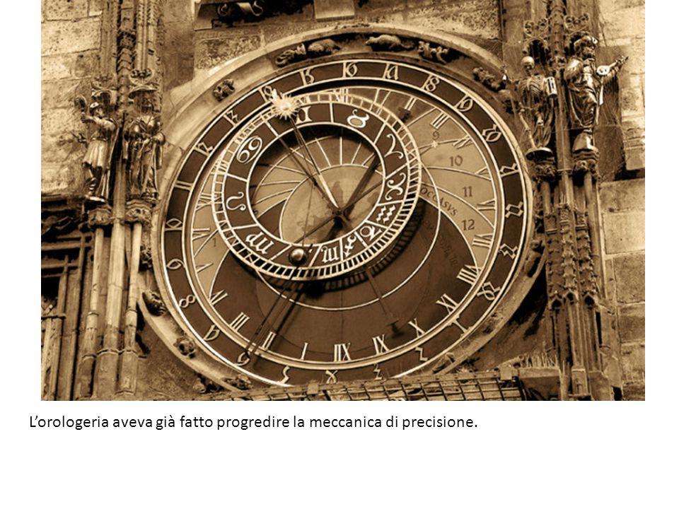 L'orologeria aveva già fatto progredire la meccanica di precisione.