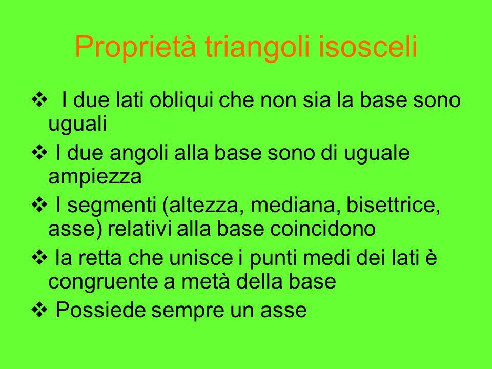Proprietà triangoli isosceli