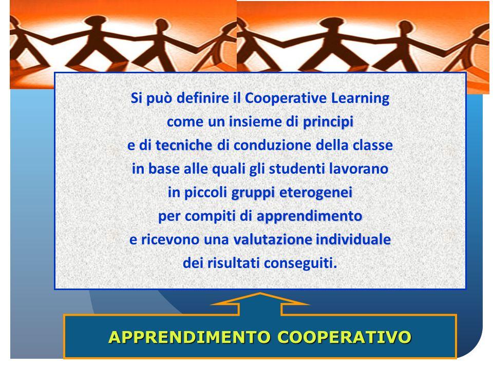 Si può definire il Cooperative Learning come un insieme di principi