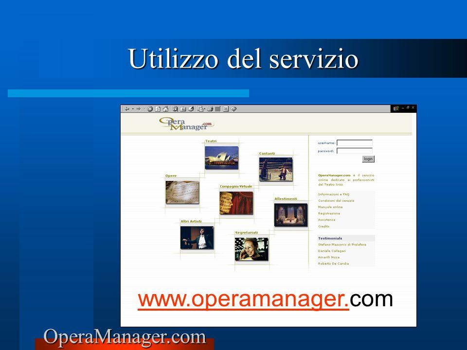 Utilizzo del servizio www.operamanager.com