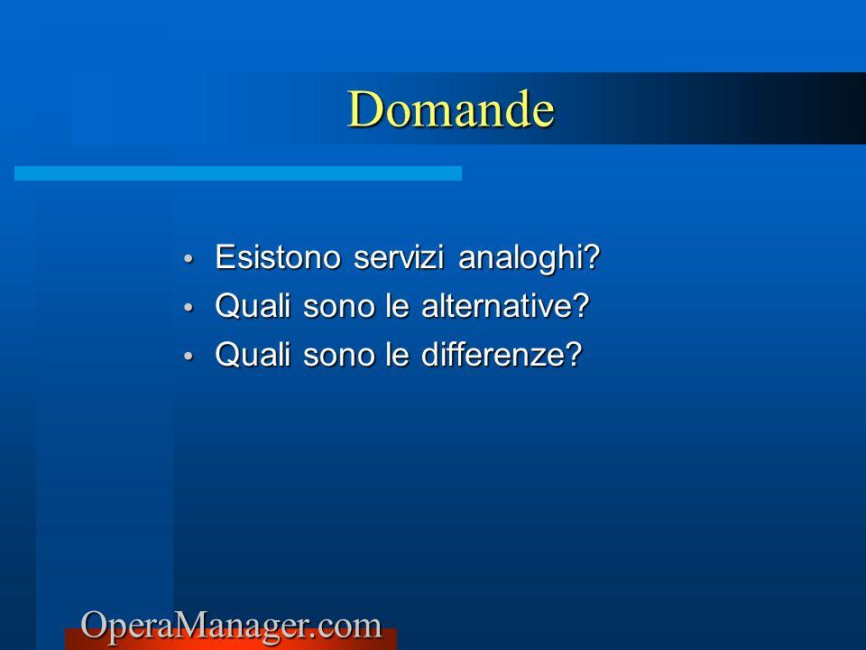 Domande Esistono servizi analoghi Quali sono le alternative