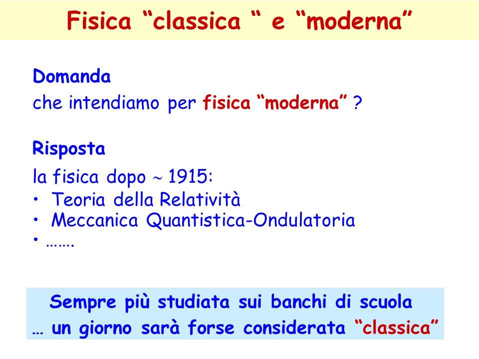 Fisica classica e moderna