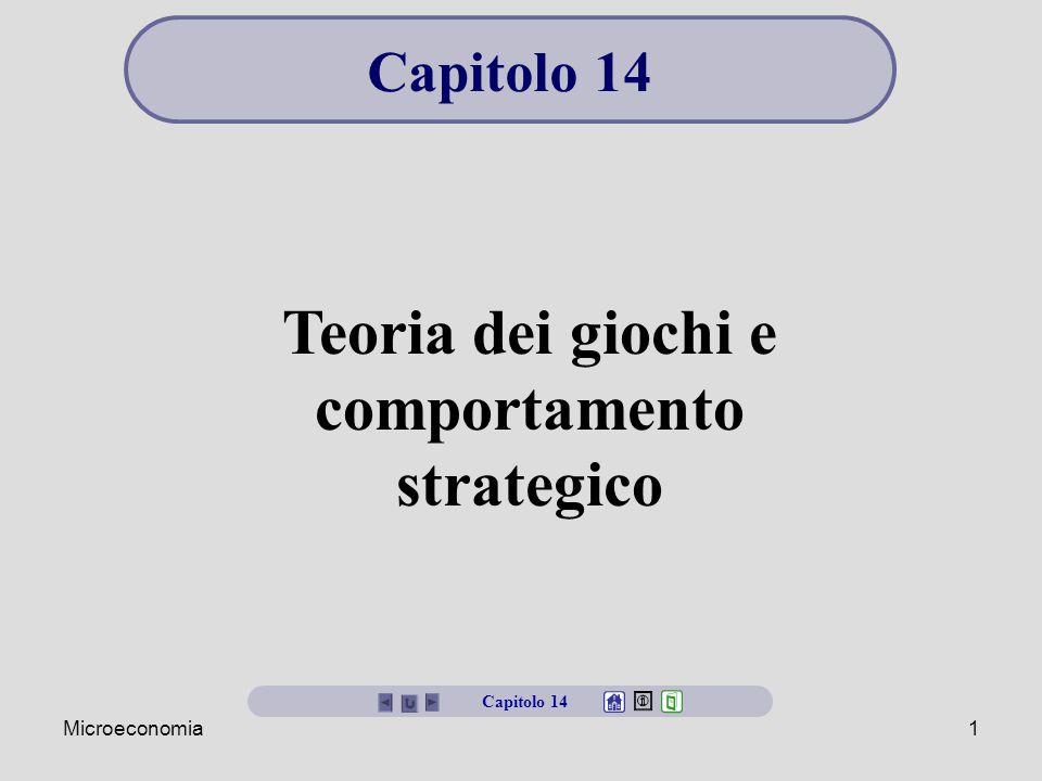 Teoria dei giochi e comportamento strategico