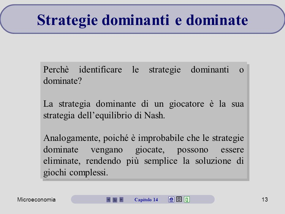 Strategie dominanti e dominate