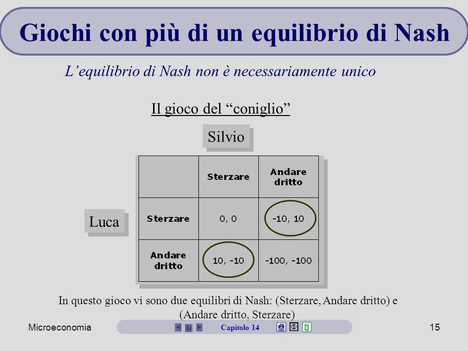 Giochi con più di un equilibrio di Nash