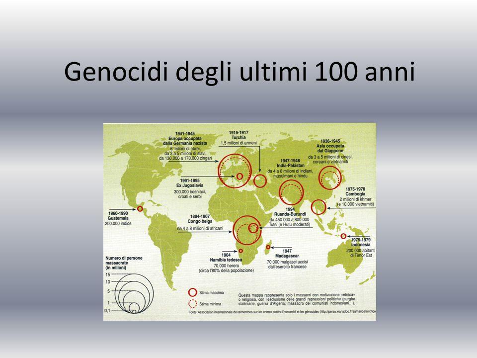 Genocidi degli ultimi 100 anni