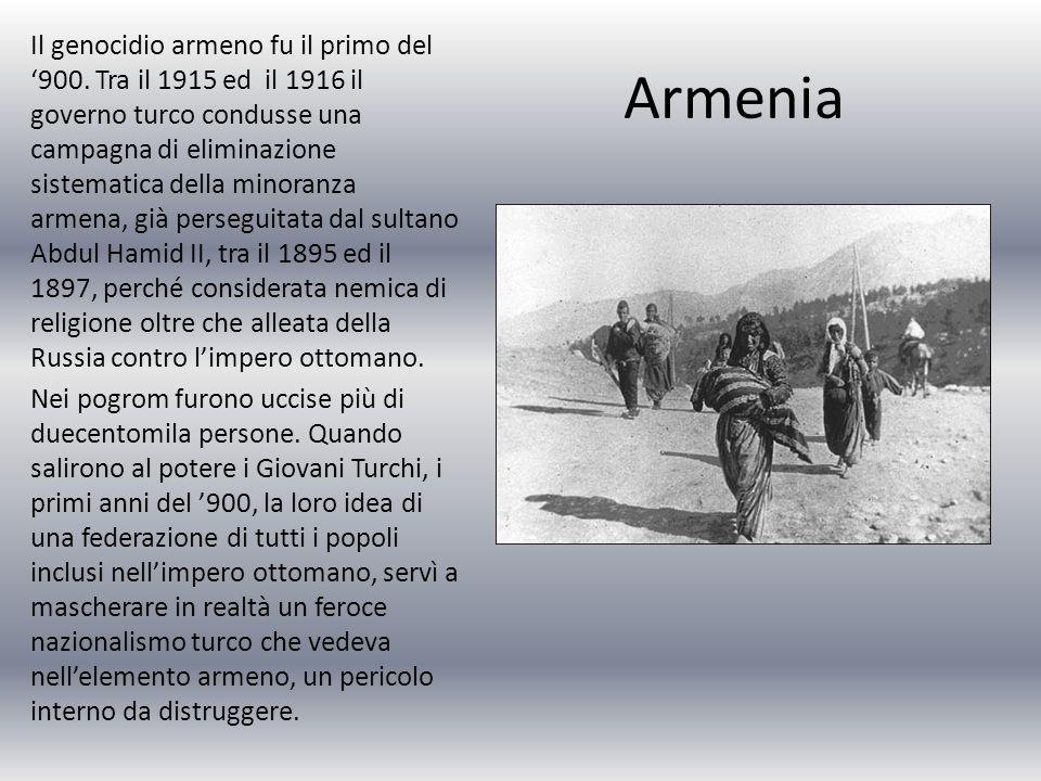 Il genocidio armeno fu il primo del '900