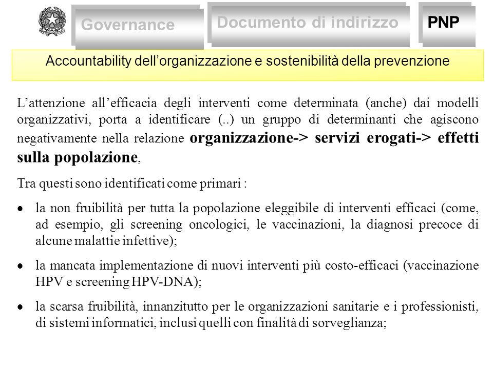 Accountability dell'organizzazione e sostenibilità della prevenzione