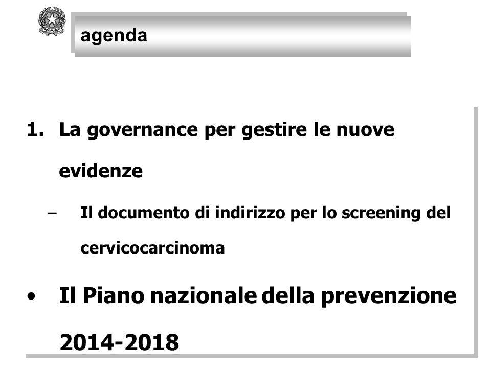 Il Piano nazionale della prevenzione 2014-2018