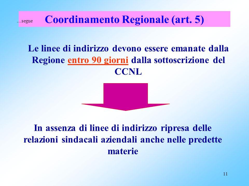 Coordinamento Regionale (art. 5)