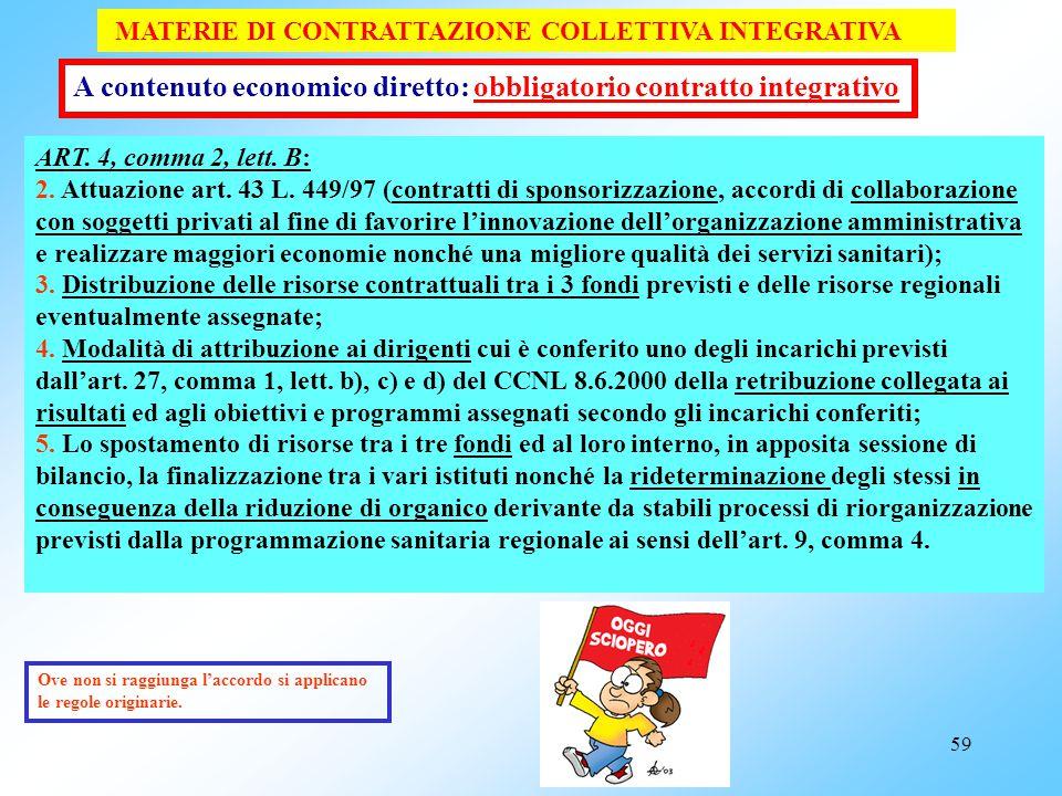 A contenuto economico diretto: obbligatorio contratto integrativo