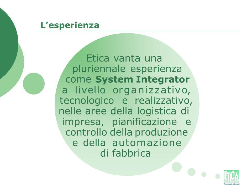 pluriennale esperienza come System Integrator