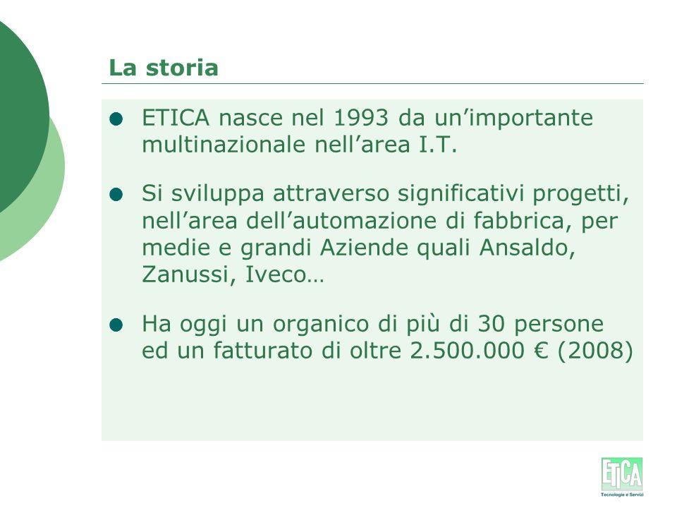 La storia ETICA nasce nel 1993 da un'importante multinazionale nell'area I.T.