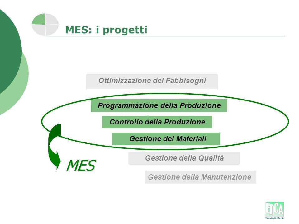 MES MES: i progetti Ottimizzazione dei Fabbisogni