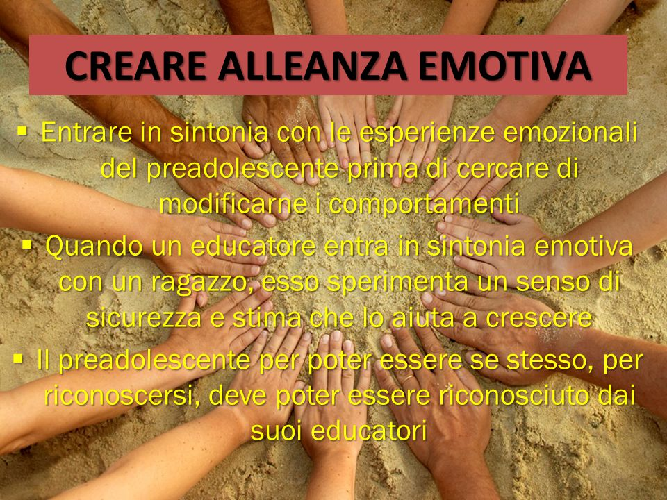 CREARE ALLEANZA EMOTIVA