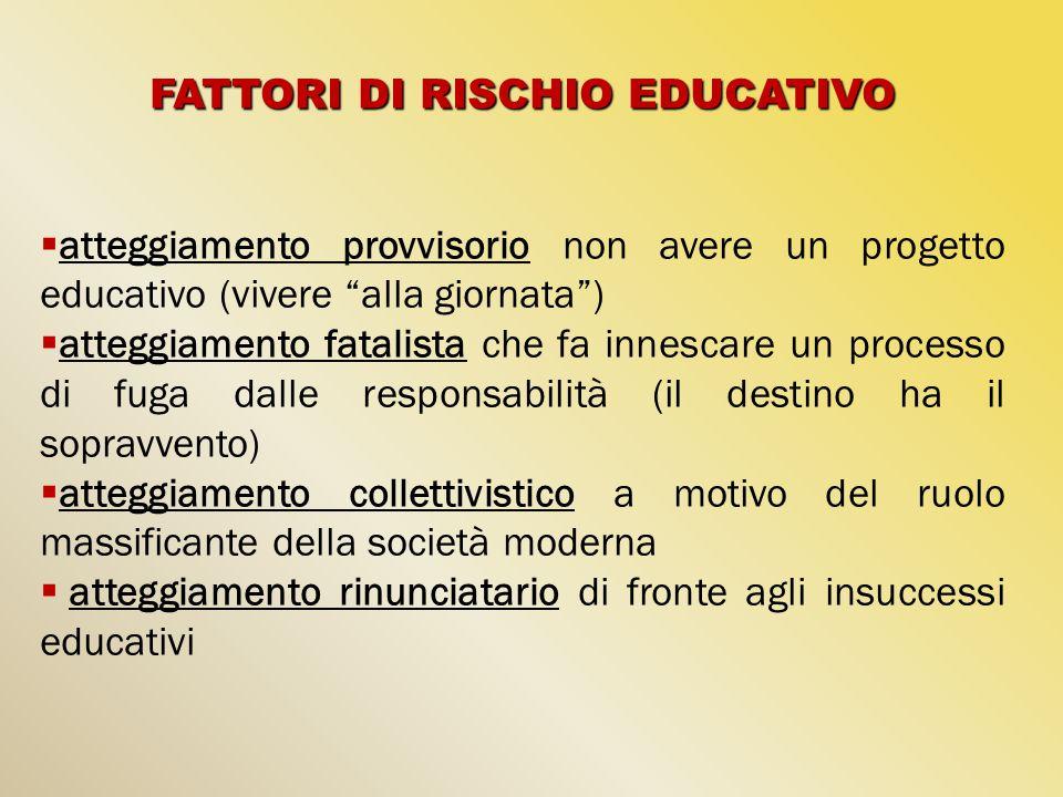 FATTORI DI RISCHIO EDUCATIVO