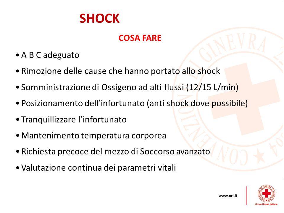 SHOCK COSA FARE A B C adeguato